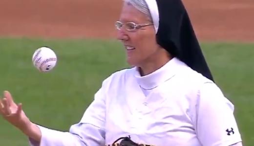 【動画】スーパー修道女シスター・メアリー・ジョーのMLB始球式
